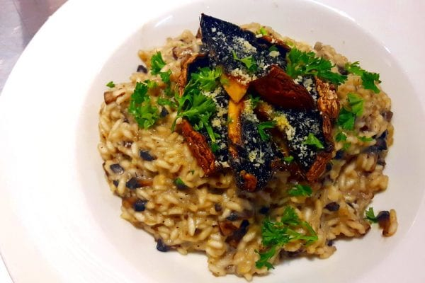 Truffle Risotto garnished for food recipe